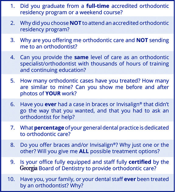 questions to ask your dentist